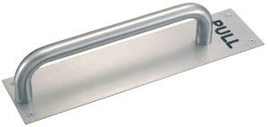Stainless Steel D Shaped Pull Handle on Plate